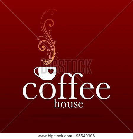 Coffee House - template logo for coffee