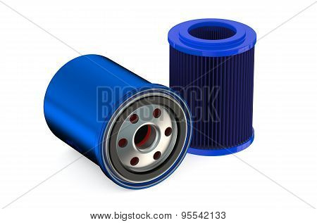 Blue Car Oil Filters