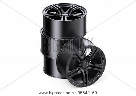 Stack Of Car Rims