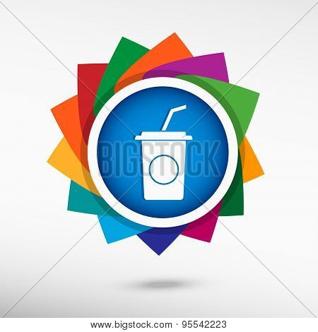Soft Drink Color Icon, Vector Illustration