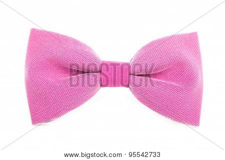 Red bow tie accessory for respectable people on an isolated whit