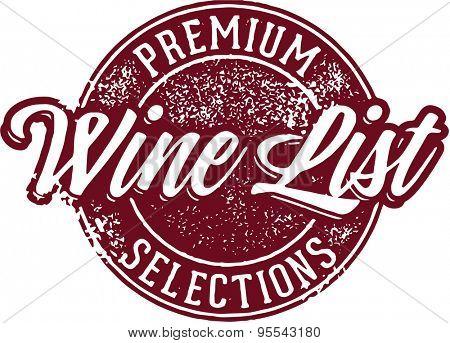 Premium Wine List Badge