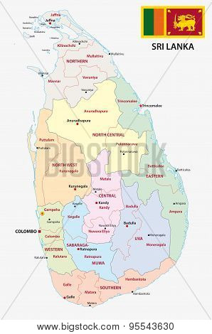 Sri Lanka Administrative Map
