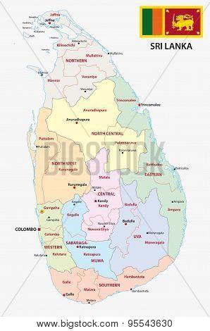 Sri Lanka Administrative Map