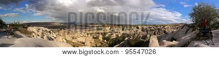 Cappadocia. Turkey. Panoramic photo