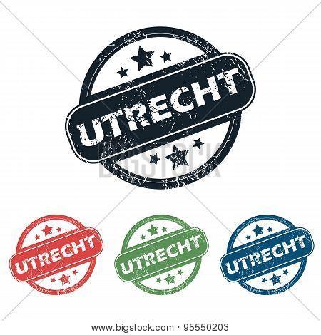 Round Utrecht city stamp set