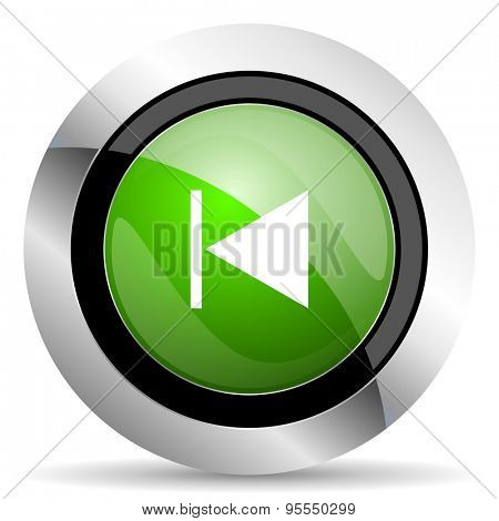 previous icon, green button
