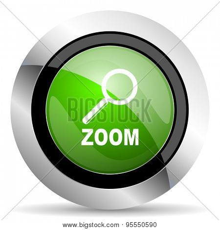 zoom icon, green button