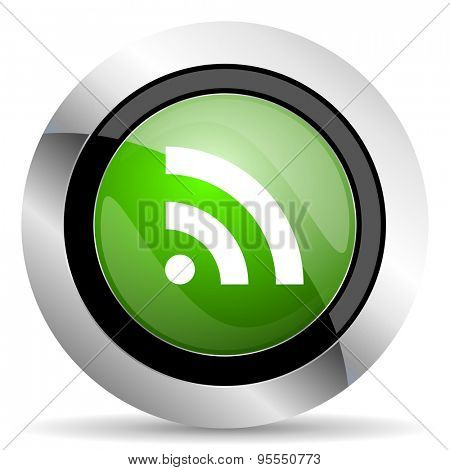 rss icon, green button