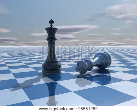 Abstract Background With Chess Kings Fight