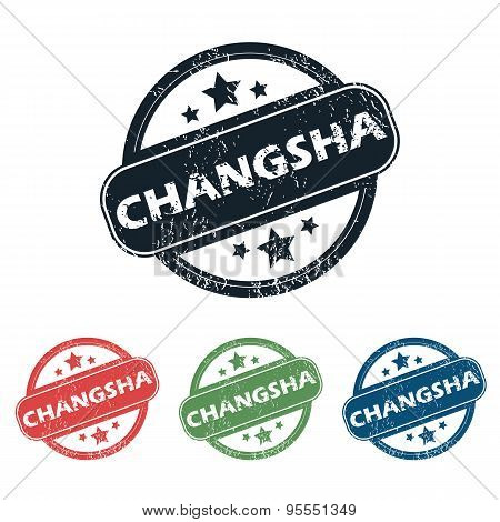 Round Changsha city stamp set