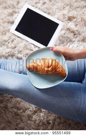 Closeup Of A Delicious Croissant