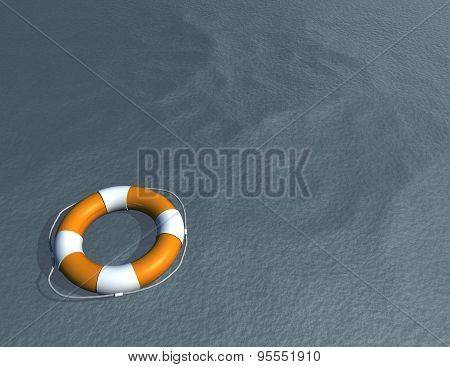 Life Buoy And Water Safety Concept Illustration