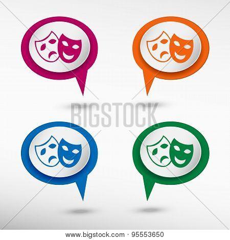 Theatre Masks Symbols