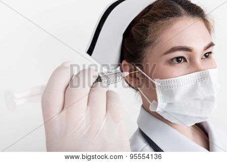 A Young Attractive Asian Nurse