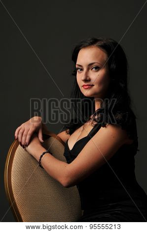 Portrait of a young elegant woman