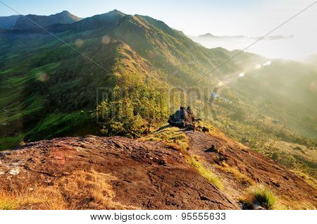 Sunrise In The Hills Of Munnar