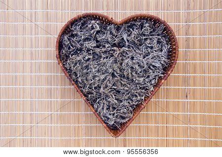 Absinth Wormwood (artemisia Absinthium) In Heart Form Basket