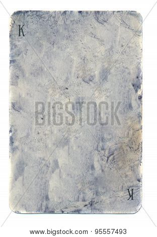 Old Grunge Dirty Playing Card Of Kings Paper Background