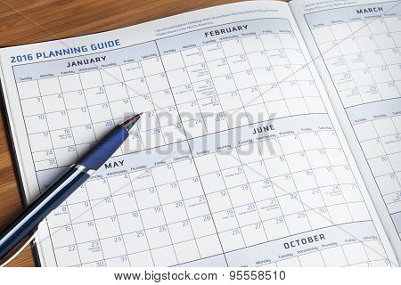 Personal Calendar Planner Book