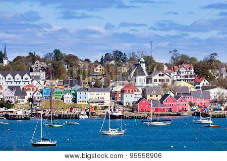 Historic Lunenburg Harbor Nova Scotia Ns Canada