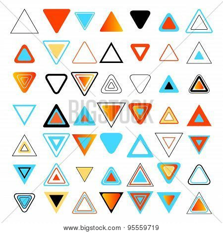 Colored Triangles. Set Of Design Elements