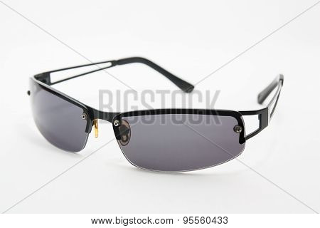 Sunglasses on a white background.