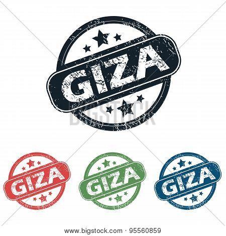 Round Giza city stamp set