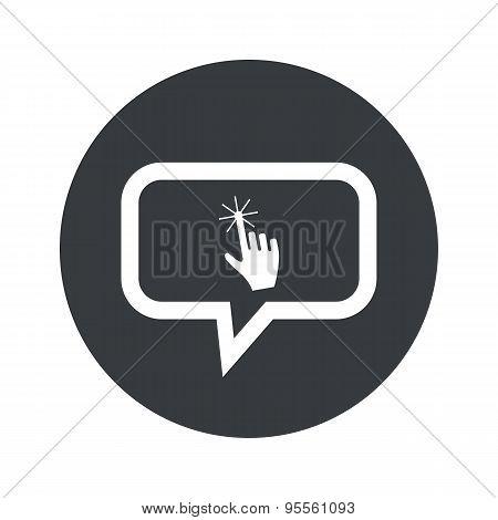 Round dialog hand cursor icon