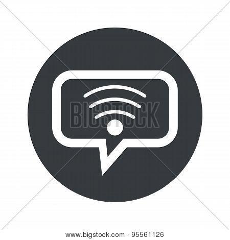 Round dialog Wi-Fi icon