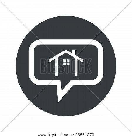 Round dialog cottage icon