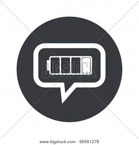 Round dialog low battery icon