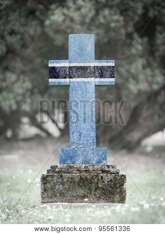 Gravestone In The Cemetery - Botswana