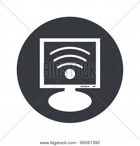 Round Wi-Fi monitor icon