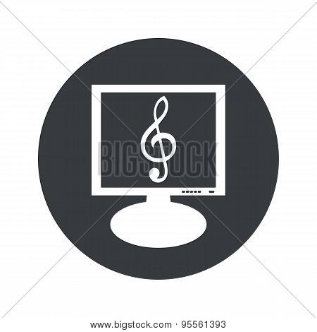 Round music monitor icon