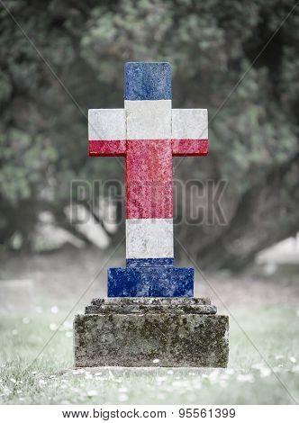 Gravestone In The Cemetery - Costa Rica