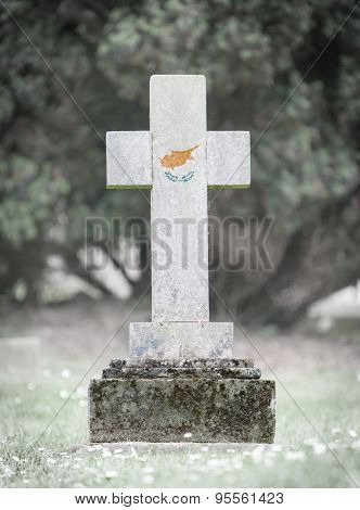 Gravestone In The Cemetery - Cyprus
