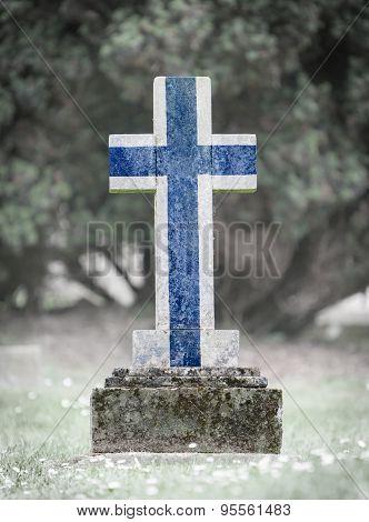 Gravestone In The Cemetery - Finland