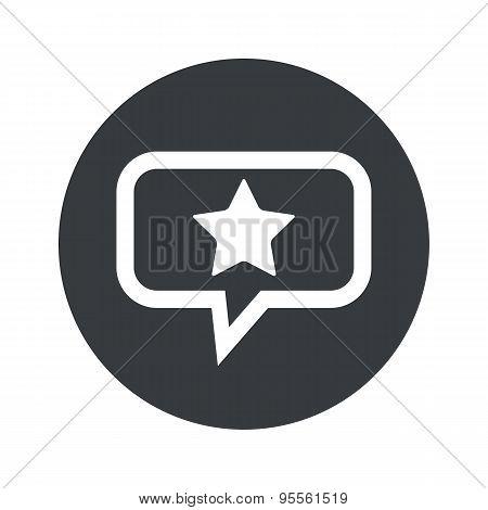 Round dialog star icon