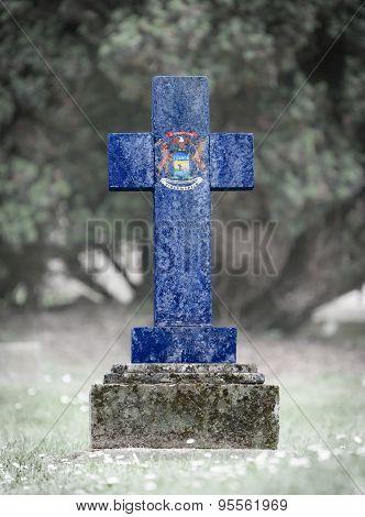 Gravestone In The Cemetery - Michigan