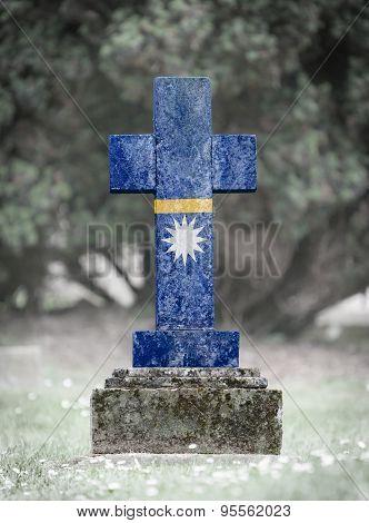 Gravestone In The Cemetery - Nauru