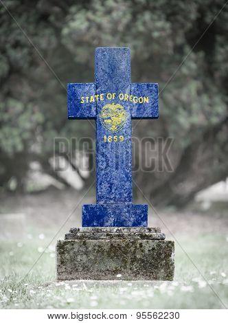 Gravestone In The Cemetery - Oregon
