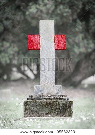Gravestone In The Cemetery - Peru