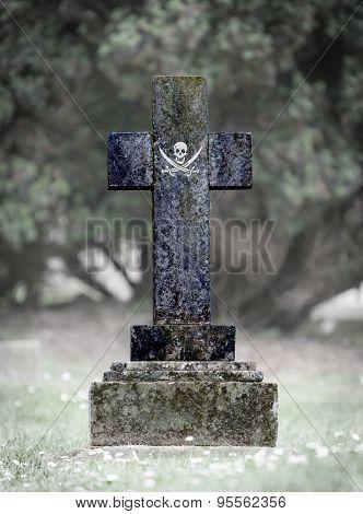Gravestone In The Cemetery - Pirate