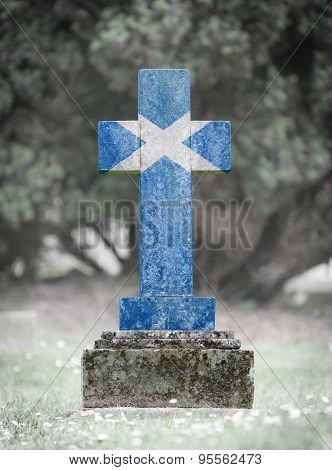 Gravestone In The Cemetery - Scotland