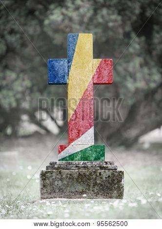 Gravestone In The Cemetery - Seychelles