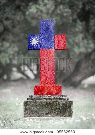 Gravestone In The Cemetery - Taiwan