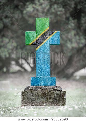 Gravestone In The Cemetery - Tanzania