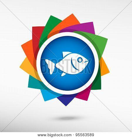 Fish. Flat Design Style