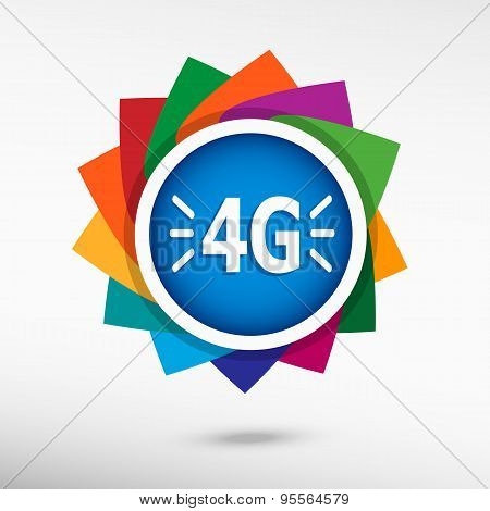 4G Sign Icon.